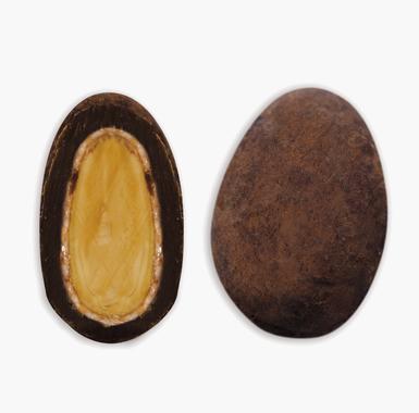 Spécialites chocolat amandes - Coeur d'Amande au Gianduja poudré cacao
