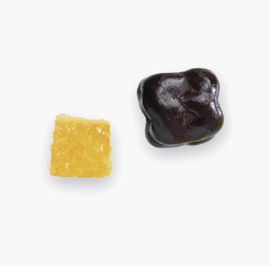 Spécialités chocolat fruits - Dé d'orange chocolat noir