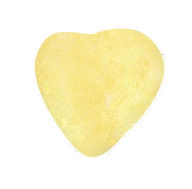 Scintillants - Coeur Chocolat nacré  blanc ou jaune