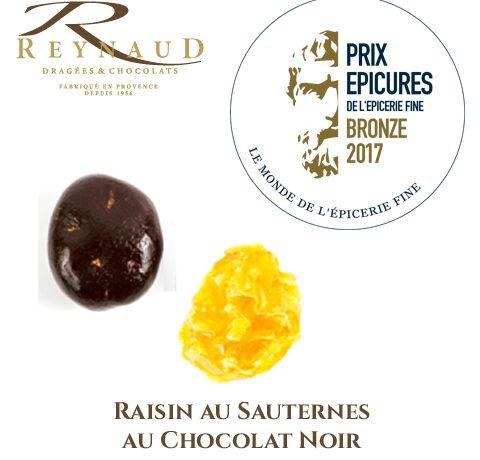 Notre raisin au Sauternes récompensé aux Epicures de l'épicerie fine!